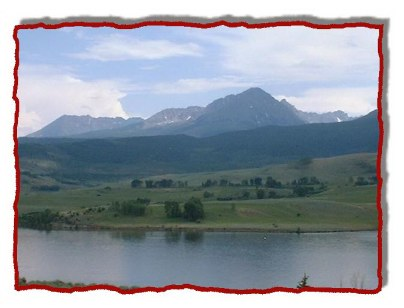 Even if the fishing is slow the views are awesome - Gore Range from the lake.