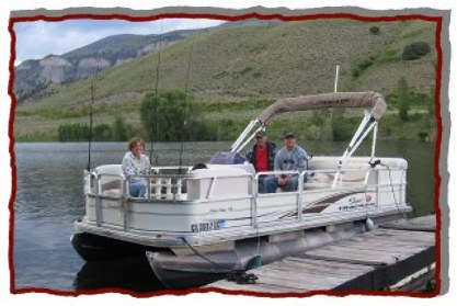 Our pontoon boat.  It is the best for fishing the Green Mountain Reservoir.